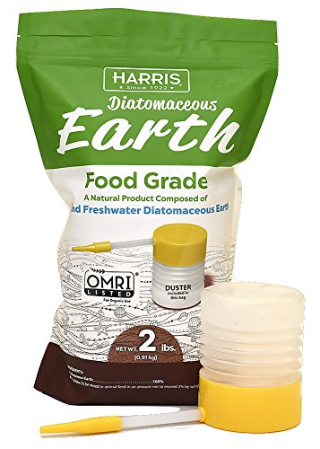 Harris Diatomaceous Earth Food Grade, 2lb with Powder Duster Included in The Bag (Best Way To Use Diatomaceous Earth For Bed Bugs)
