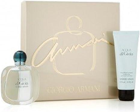 Perfume Giorgio Armani, Acqua Di Gioia, para mujer, estuche para regalo: perfume, crema corporal (1 caja): Amazon.es: Belleza