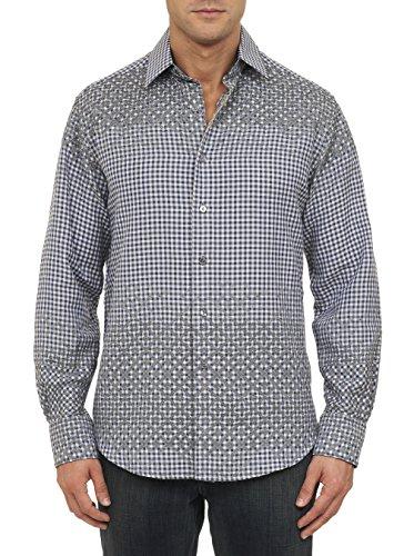 Robert Graham Men's Good Life Long Sleeve Woven Shirt Limited Edition, Navy, Medium