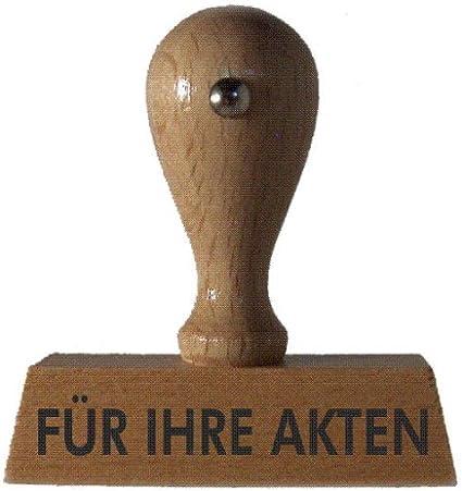 von stempel-fabrik Holzstempel FÜR IHRE AKTEN 50x10 mm - 1 Zeile