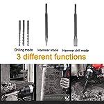 1500W-Martello-Perforatore-3-Funzioni-Martello-Tassellatore-a-Batteria-Set-Martello-Elettrico-Adatto-per-Legno-Muratura-Cemento-EccRossa
