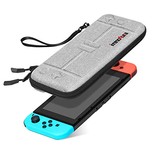 (Case for Nintendo Switch - innoAura Portable Hardshell Slim Travel Carrying Case fit Switch Console & 8 Game Cartridges Accessories)