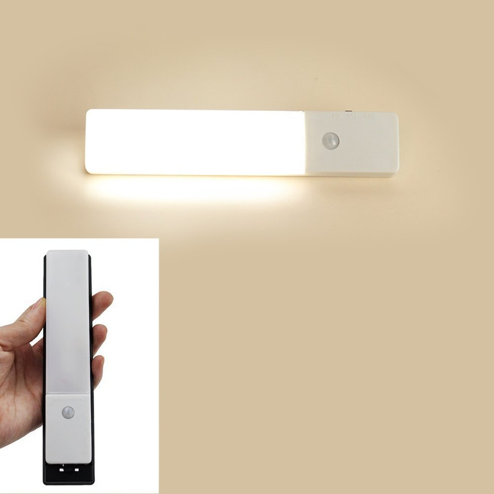 ZEEFO Wireless PIR Motion Sensor Light Closet LED Night Light Hallway  Stairs Wardrobe Wall Light, Motion Sensing Lights Built In Lithium Stick On  Anywhere 3 ...