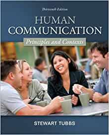 Human communication tubbs 13th edition