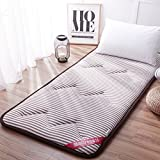 AMYDREAMSTORE Tatami bed mattress anti-slip folding mat 1.8m single double floor sleeping pad nap living room dormitory-A 90x200cm(35x79inch)