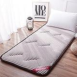 AMYDREAMSTORE Tatami Bed Mattress Anti-Slip Folding mat 1.8m Single Double Floor Sleeping pad nap for Living Room Dormitory-A 90x200cm(35x79inch)