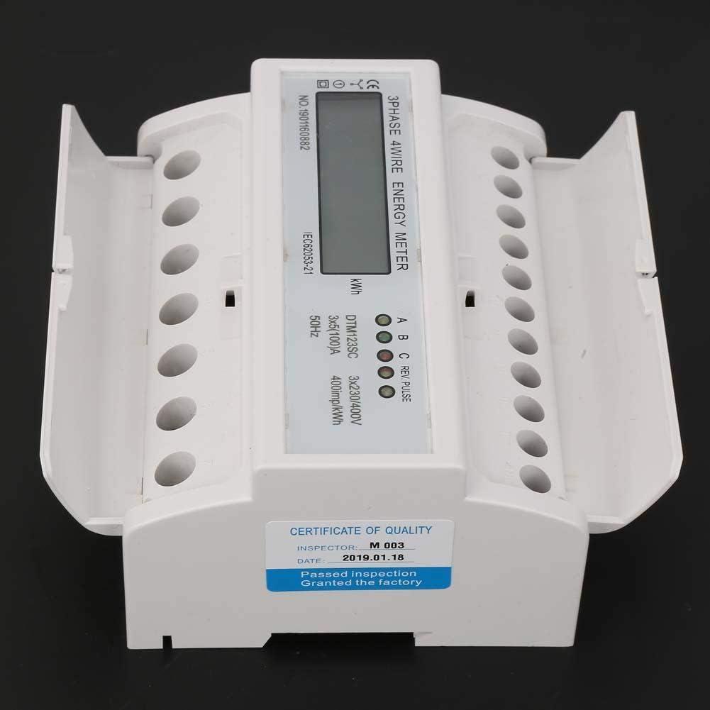 400V 5-100A Consumo de Energ/ía Medidor Digital de Energ/ía El/éctrica Medidor Trif/ásico de Kwh con Lcd iFCOW 230