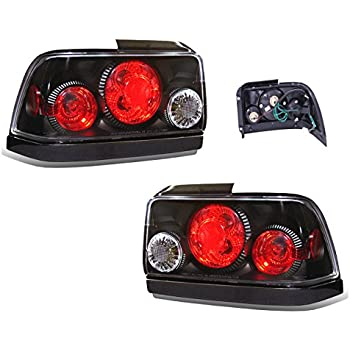 SPPC Taillights Black Assembly Set For Toyota Corolla   (Pair) Driver Left  And Passenger Right Side Replacement