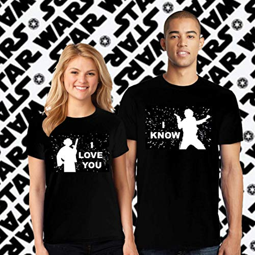 Star Wars Couple Matching Shirts Gift, his and hers Shirts, Disney Star wars I love you I know -