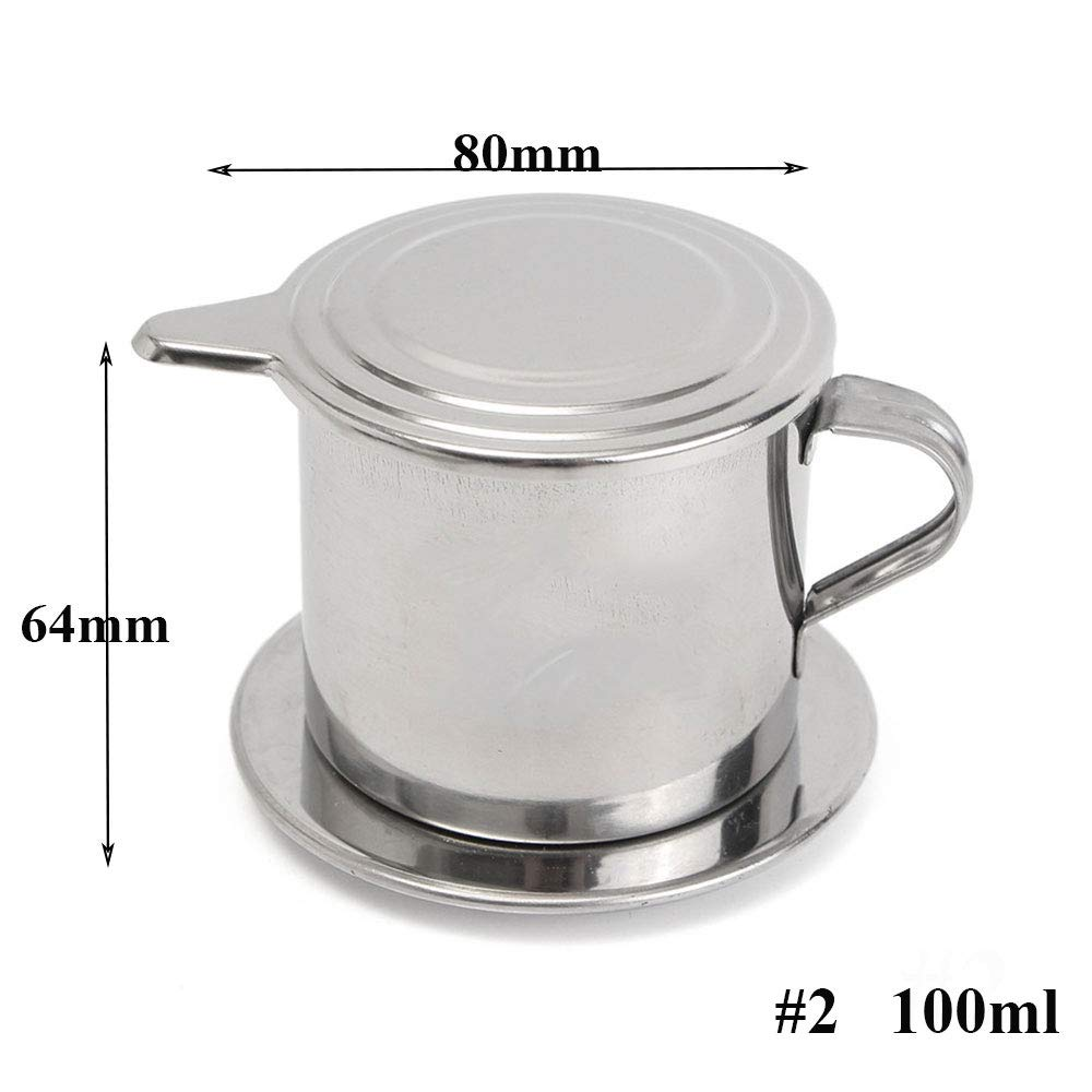 Vietnamese Coffee Filter Maker,Stainless Steel Vietnam Vietnamese Coffee Simple Drip Filter Maker Infuser New (100ml) by Way2top (Image #2)