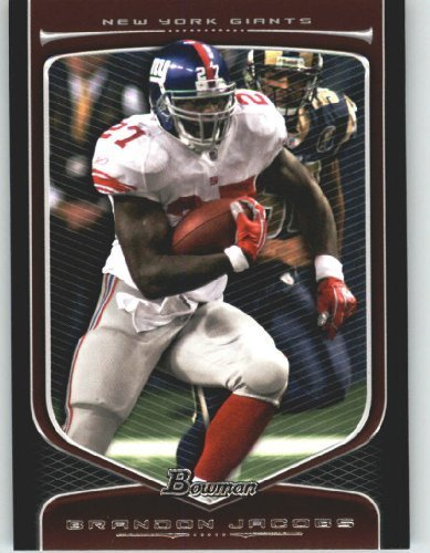 2009 Topps Draft Picks - Brandon Jacobs - New York Giants - 2009 Bowman Draft Picks Football Cards #37 - NFL Trading Card