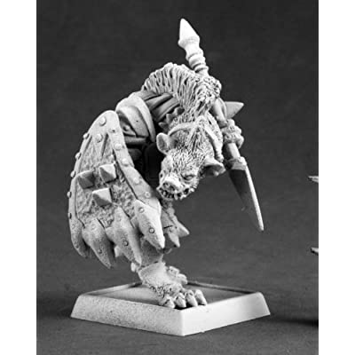 Gnoll Reaver of Kargir Worlord Series Miniatures: Toys & Games
