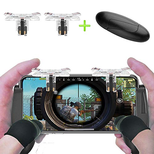 Markmesafe Mobile Game Controller Android iOS Phone|Sensitive Shoot Aim Buttons L1R1 PUBG/Rules Survival, PUBG Mobile Game Joystick|Lightweight Tiny Mobile Game Handles
