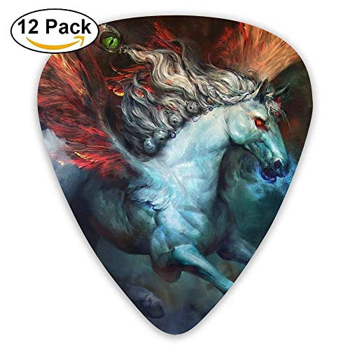 Fire Wings Horse - Fire Wings Pegasus Horse Custom Guitar Picks For Electric Acoustic Best Stuffer Gifts (12pack)