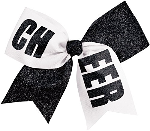 chass-girls-cheer-performance-hair-bow-glitter-black-white