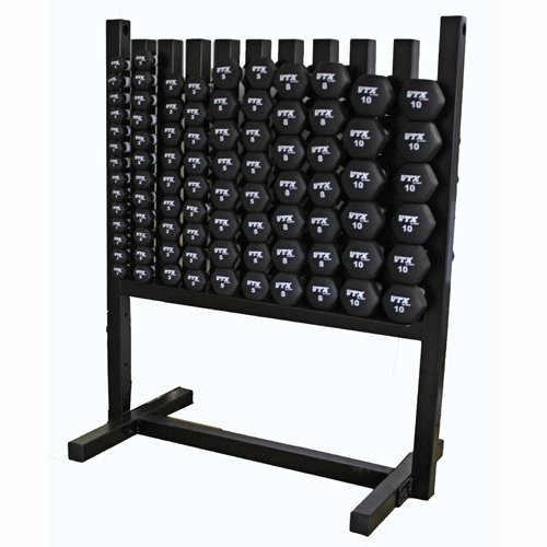 VTX by Troy Barbell MDR-NPAC Aerobic Pac Locking Rack & 43 Pairs of Neoprene Coated Dumbbells, One Size