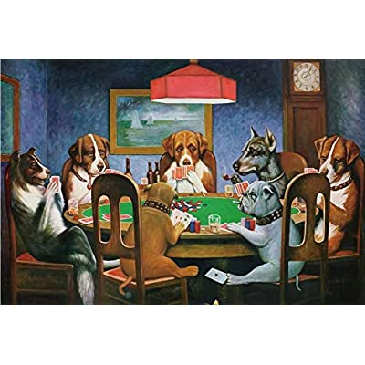 Jigsaw Puzzles for Adults Child 1000 Piece,Jigsaw Puzzle Dog Poker Christmas Home Decoration Unique Gifts for Adults and Children Gift: Toys & Games