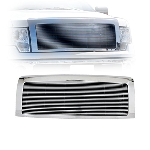 Billet Chrome Grille Shell - E-Autogrilles 09-14 Ford F-150 Replacement Aluminum Billet Grille with Chrome ABS Shell (42-0792)