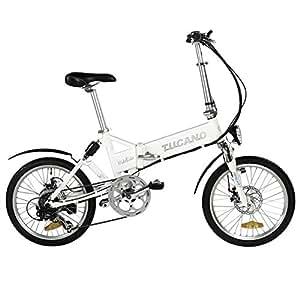 """Tucano Hide Sport Bicicleta Eléctrica, Unisex Adulto, Blanco, 20"""""""