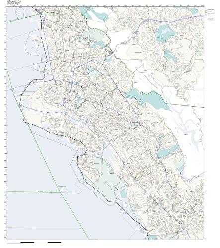 ZIP Code Wall Map of Oakland, CA ZIP Code Map Not Laminated