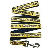 Pets First West Virginia Univ CheerLeading Sports Team Logo Pet Dog Collar Leash