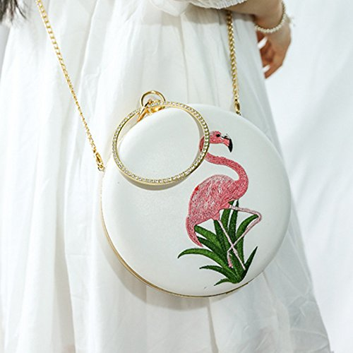 Shoulder Womens Handbag Messenger Fashion Handbag Round Purse Bag White Women For Bag Package Bag Big Minimalist rSIqr