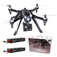 Contixo F17 Plus Bundle RC Quadcopter Drone With 4K Ultra HD camera 16MP, Brushless Motors, 2 Batteries, Aluminum Hard Case, Supports GoPro Hero Cameras-Best Gift Idea by Contixo
