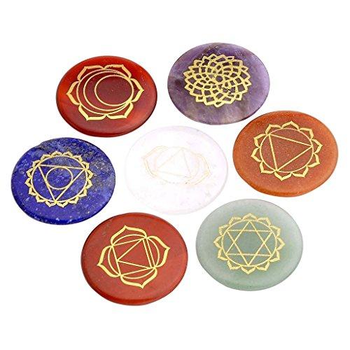 JOVIVI Healing Crystals Polished Engraved