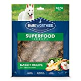 Barkworthies All-Natural Superfood Dog Treats (12oz. Bag) - Rabbit with Apple & Kale Jerky Treats