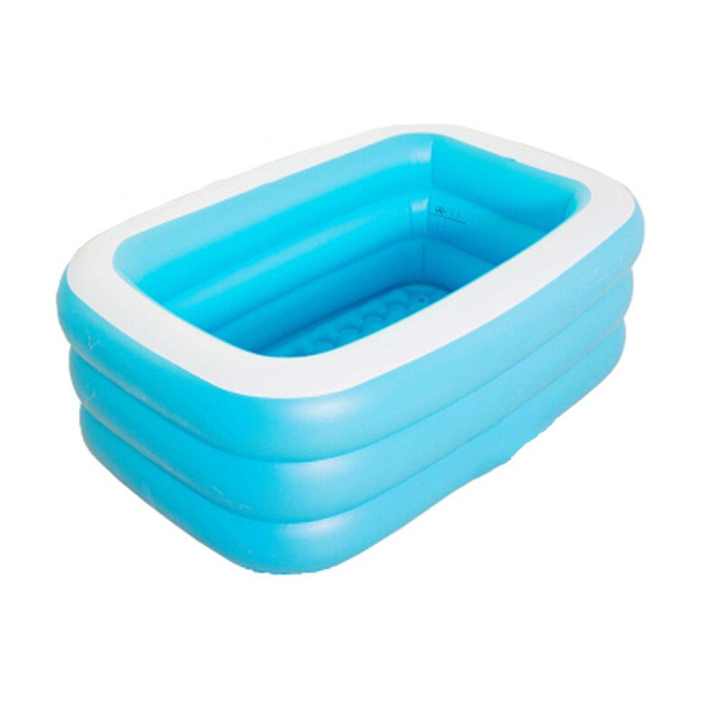 CQYGZHL Doppelte aufblasbare Badewanne Thicker Erwachsene warme Wanne Fold Plastic Barrel blau 125  85  45cm, 145  108  47cm Badewanne (Größe   125  85  45cm)