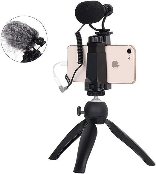 Comica - Equipo de vídeo para Smartphone CVM-Vm10-K2, Mini trípode para cineastas con Disparo, micrófono, para iPhone y Android: Amazon.es: Electrónica