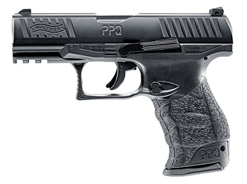T4E Umarex .43cal Walther PPQ Paintball Pistol BLACK semi auto CO2 magazine ()