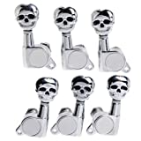 AABABUY 3L3R Chrome Skull Guitar Sealed-gear Tuning Pegs Machine Head