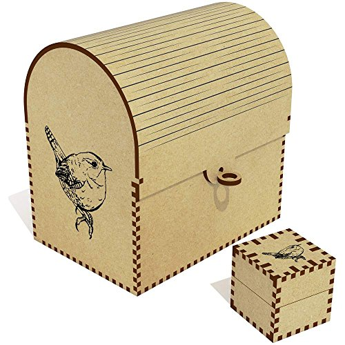 Azeeda 'Wren Bird' Treasure Chest / Jewellery Box (TC00030117) by Azeeda