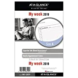AT-A-GLANCE 2019 Weekly Planner Refill, Day Runner, 5-1/2'' x  8-1/2'', Desk Size 4, Loose Leaf (061-285Y)