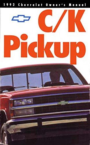 (bishko automotive literature 1992 Chevrolet C K Pickup Truck Owners Manual User Guide Operator Book Fuses)