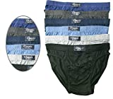 Pack of 6 Men's Comfortable Classic Slips Briefs Pants Underwear Size: S-5XL (Medium)