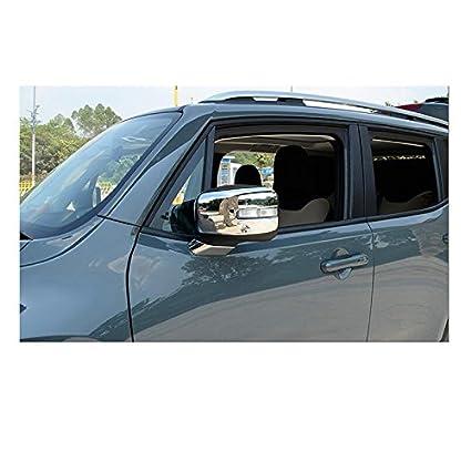 2 tapacubos de cromo para espejo retrovisor lateral, diseño de rayas: Amazon.es: Coche y moto