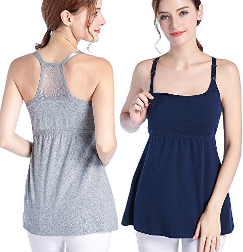 6c3ae538d88 CAKYE Women Nursing Tank Top Camisole Sleep Bra For Maternity    Breastfeeding (Medium  Fits for Weight 120-140 lb