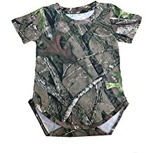 Southern Designs Hunters Camouflage Baby Onesie In Newborn 6, 12, 18 and 24 Month Country Camo