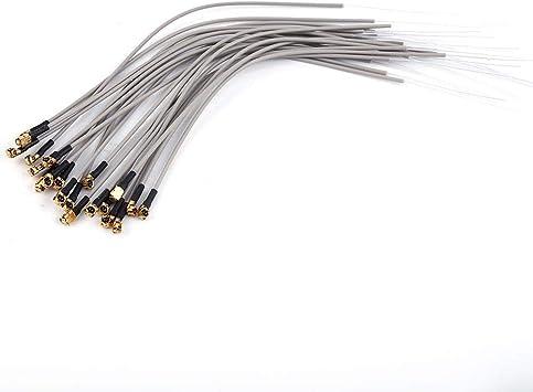 Drfeify Antena Receptora 2.4G, Interfaz IPEX de 150 mm Compatible con Futaba FrSky (20 Piezas)