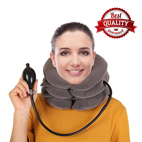 (Cervical Neck Traction Device By SAULLA - Fixed Neck And Shoulders - frees up your neck pain| you will feel effective in the first use - especially effective with acute)