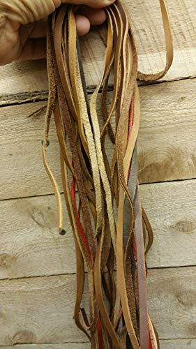 Oil Tanned Leather lace / 2-3 Foot Long 12 peaces