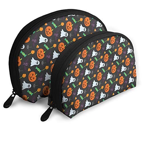 ElephantAN Halloween Pumpkin Ghost Multifunction Shell Portable Bags,Storage Bag,Buggy Bag,Travel Cosmetic Bags,Small Makeup Clutch,Pouch Cosmetic,Toiletries Organizer Bag]()