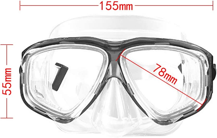 Diving Snorkeling Mask for Myopia Glasses Wearers Optical Lenses Nearsighted Scuba Dive OWN4B Snorkel Mask