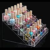 1pc with 6 layer Color Transparent Grand Display Stand Organizer Beauty Makeup Nail Polish Rack