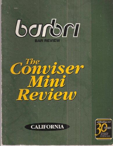 (Barbri Bar Review: The Conviser Mini Review - California)