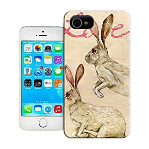 Unique Phone Case bunnies love Hard Cover for iPhone 4/4s cases-buythecase
