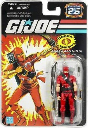 Gi Joe Ninjas (Cobra Red Ninja - G.i. Joe 25th Anniversary)