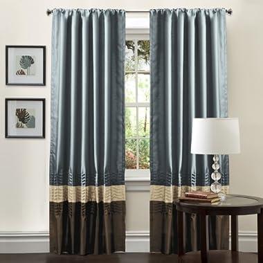 Lush Decor Mia Curtain Panel Pair, 54-Inch by 84-Inch, Federal Blue